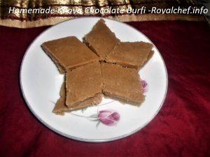 Mawa Chocolate Burfi