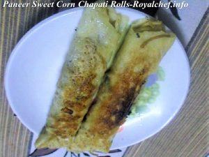 Paneer Sweet Corn Rolls