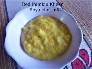 Red Pumkin Kheer