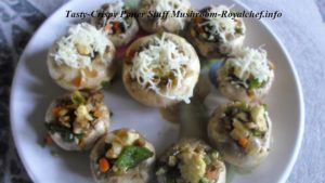 Paneer Stuffed Mushroom Vegetable