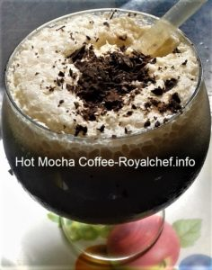 Hot and Refreshing Mocha Coffee