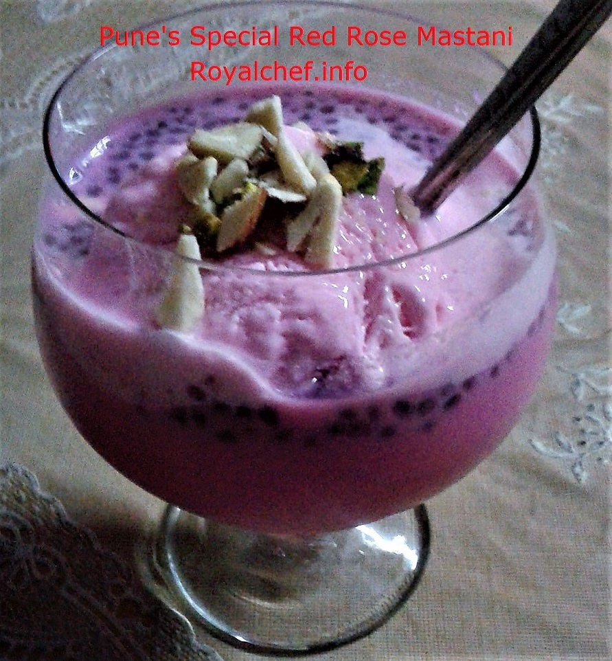 Pune's Red Rose Mastani Milkshake