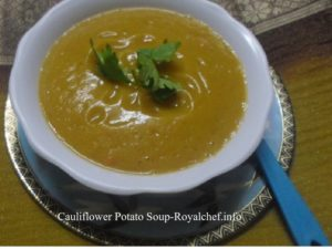 Cauliflower Batata Soup
