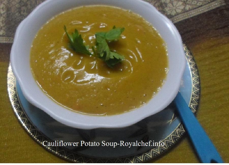 Cauliflower Batata Soup
