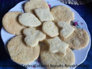 Eggless Coconut Biscuits