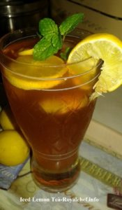 Refreshing Iced Lemon Tea