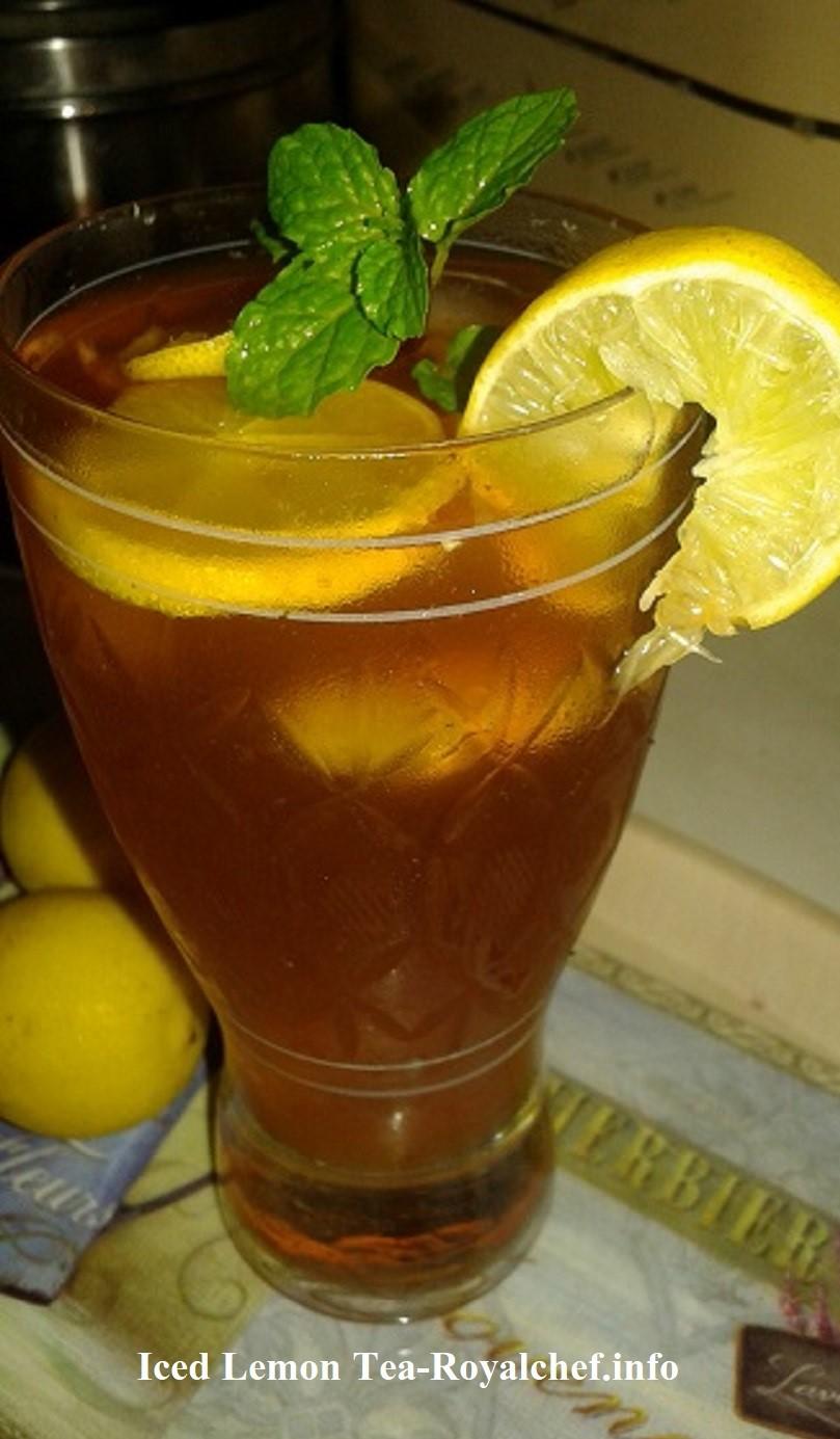 Refreshing Iced Lemon Tea
