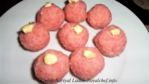 Red Rose Nariyal Ladoo