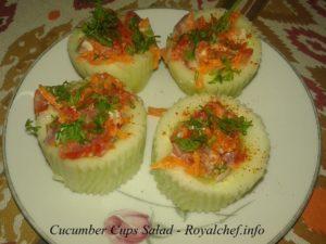 Kakdi or Cucumber Cups Salad