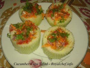 Kakdi or Cucumber Cups Salad