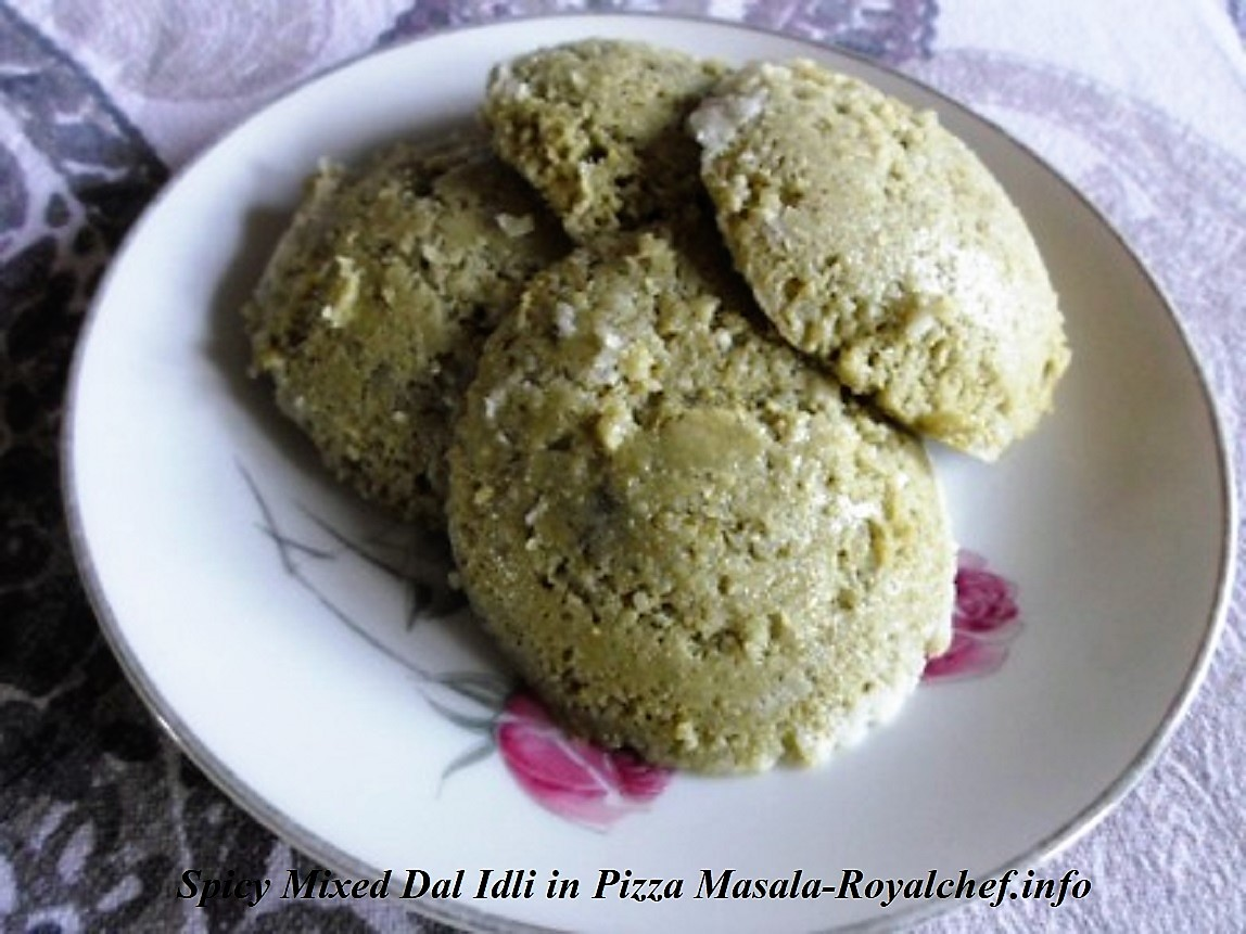 Spicy Mixed Dal Idli in Pizza Masala and Garam Masala