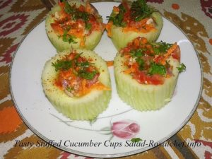Cucumber Cups Salad