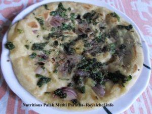 Nutritious Palak Methi Potato Paratha