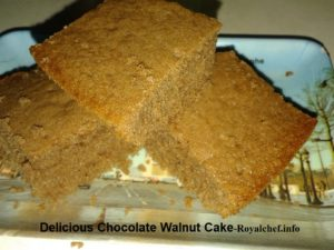 Delicious Chocolate Walnut Cake for Desert
