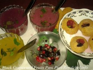 Black Grapes Pani Puri