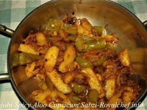 Punjabi Spicy Potato Capsicum Sabzi