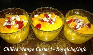 Chilled Mango Custard for Dessert
