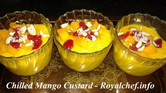 Chilled Mango Custard for Dessert