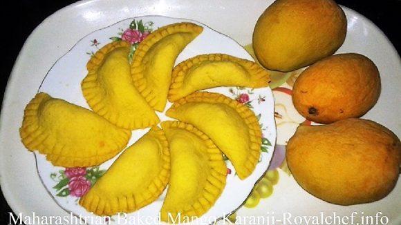 Baked Mango Karanji