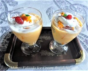 Tasty Mango Falooda Ice Cream
