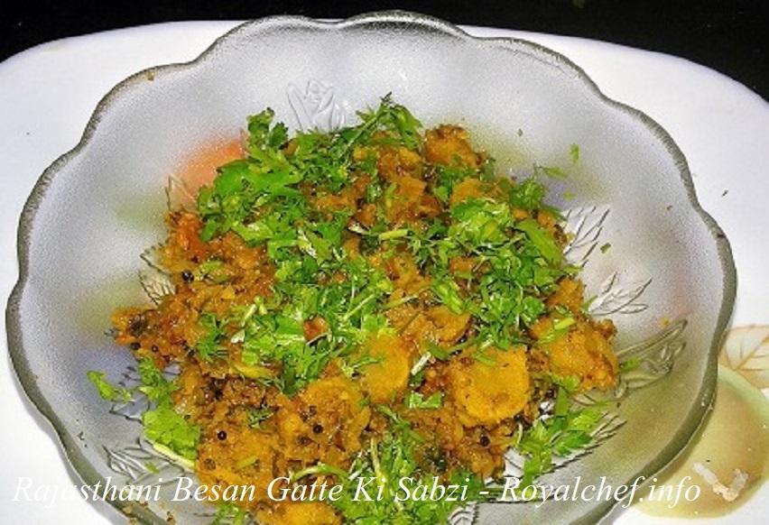 Rajasthani Besan Gatte Ki Sabzi Recipe