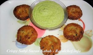 Sabji Suran Kabab