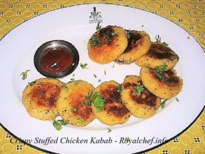 Crispy Stuffed Chicken Kabab