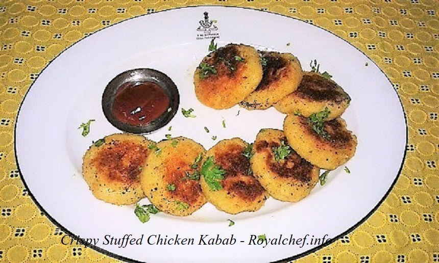 Crispy Stuffed Chicken Kabab