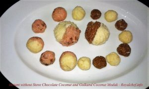 Maharashtrian Chocolate Coconut and Gulkand Coconut Modak