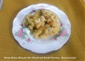 Besan Halwa Bhog for Dev Diwali