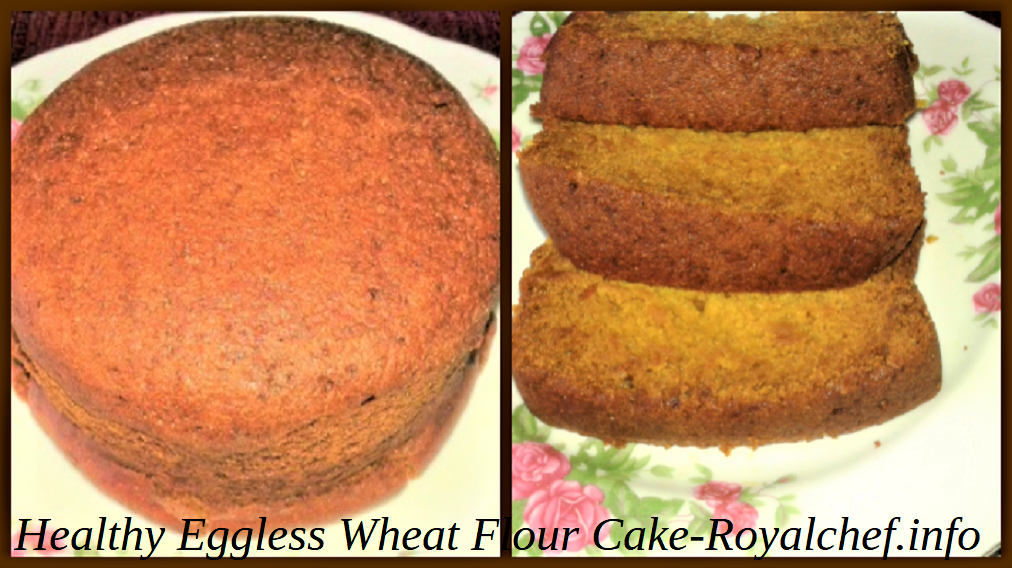 Healthy Eggless Wheat Atta Cake