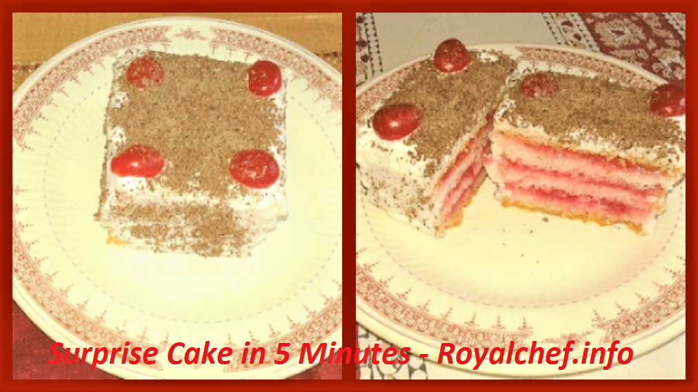 Make Surprise Cake in 5 Minutes