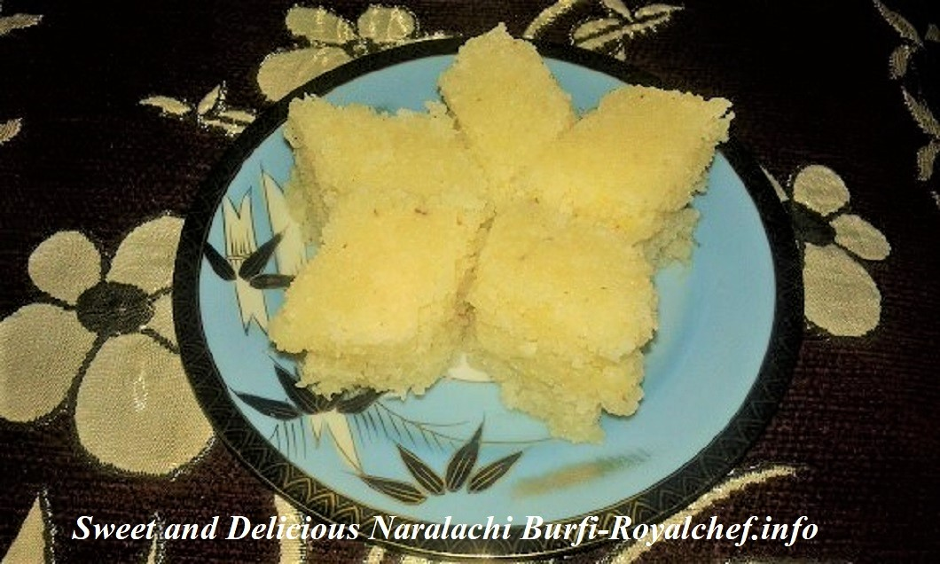 Sweet and Delicious Naralachi Vadi