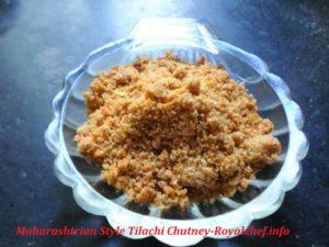 Maharashtrian Style Sesame SeedsChutney
