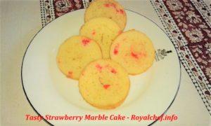 Tasty Strawberry Marble Cake