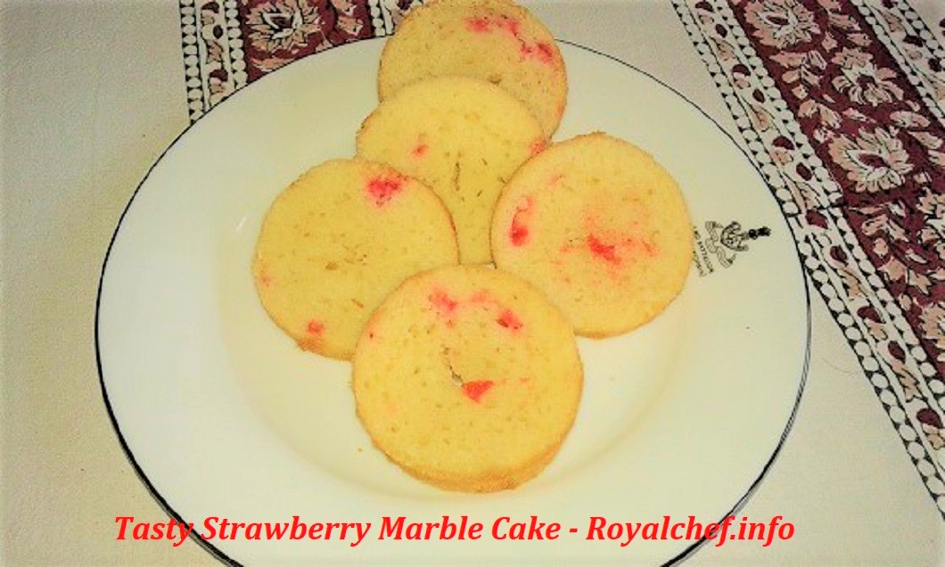 Tasty Strawberry Marble Cake