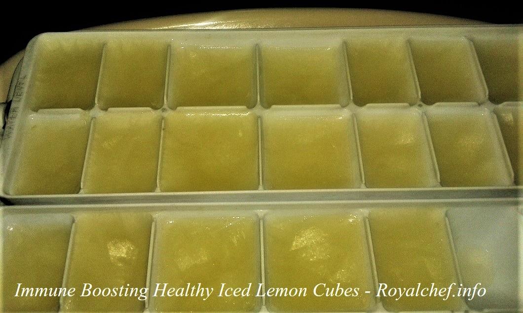 Iced Lemon Cubes