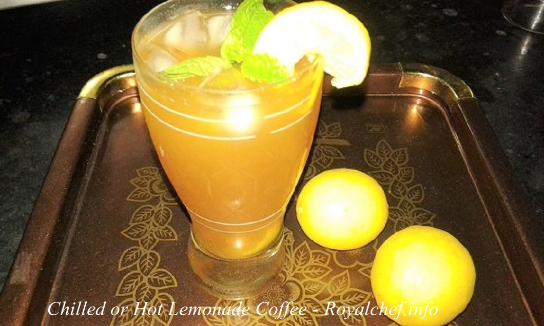 Chilled and Hot Lemonade Coffee