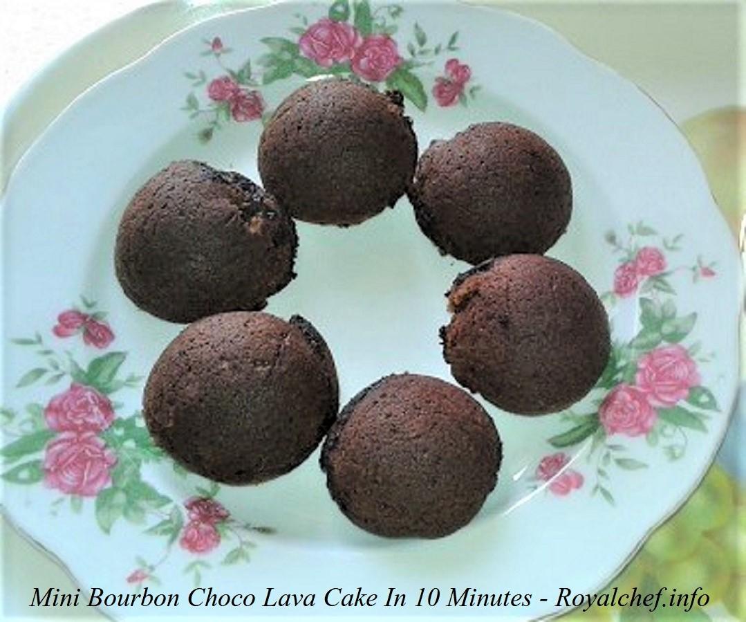 Homemade Mini Bourbon Choco Lava Cake In 10 Minutes