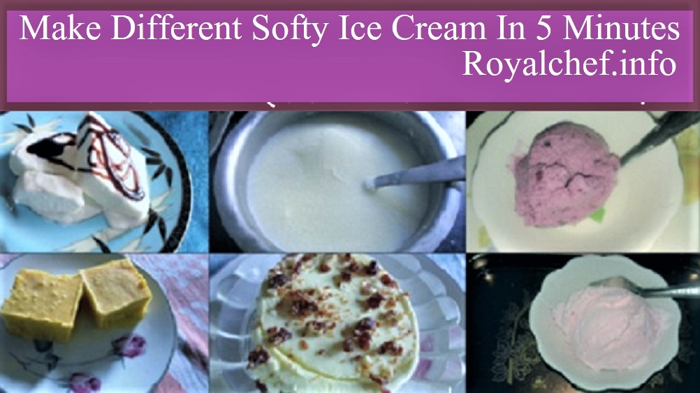 Make Different Softy Ice Cream In 5 Minutes in Marathi language