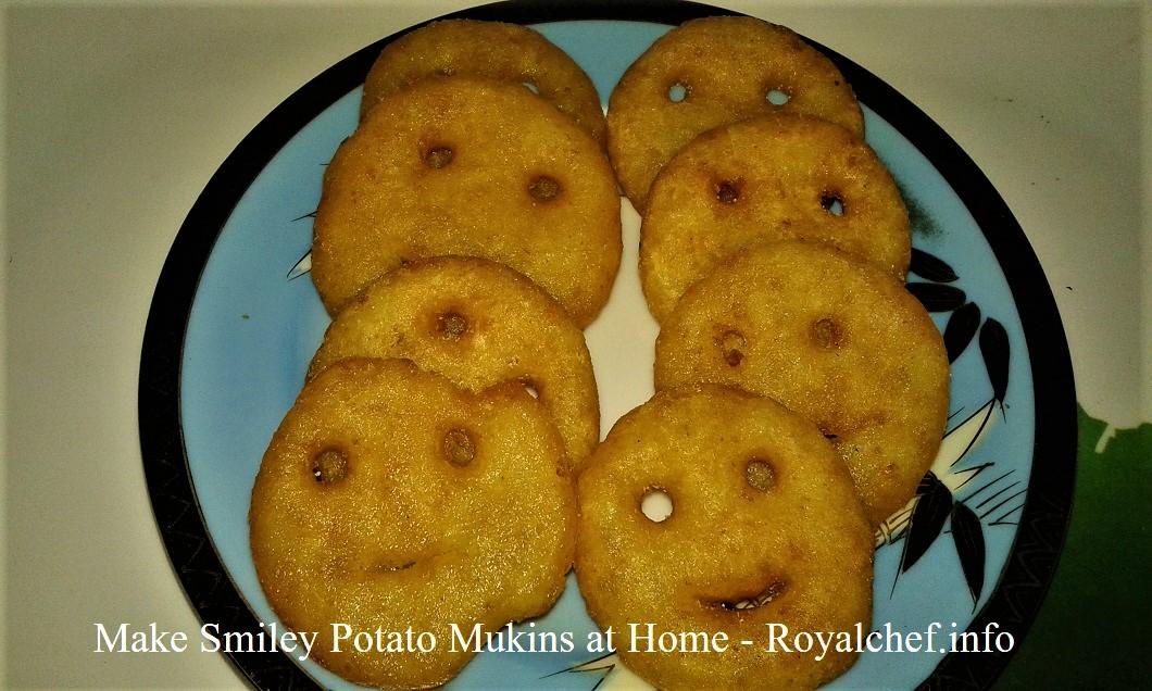 Make Smiley Potato Mukins