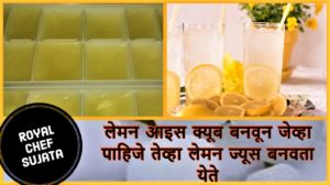 Make Durable Lemon Ice Cubes