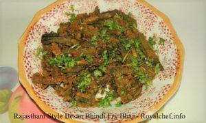 Rajasthani Style Spicy Crispy Besan Bhindi Fry Bhaji