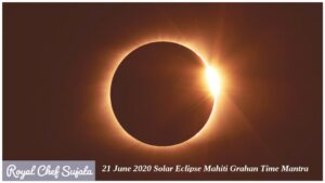 21 June 2020 Solar Eclipse Mahiti Grahan Time Mantra