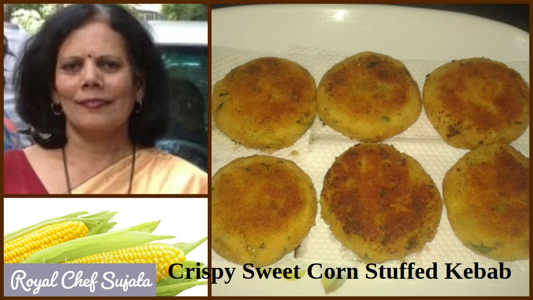 Crispy Sweet Corn Stuffed Kebab for kids