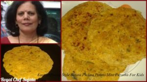 Easy Different Style Batata Pudina Potato Mint Paratha For Kids Tiffin Or nashta
