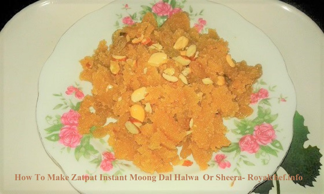 Quick Instant Moong Dal Halwa Or Sheera