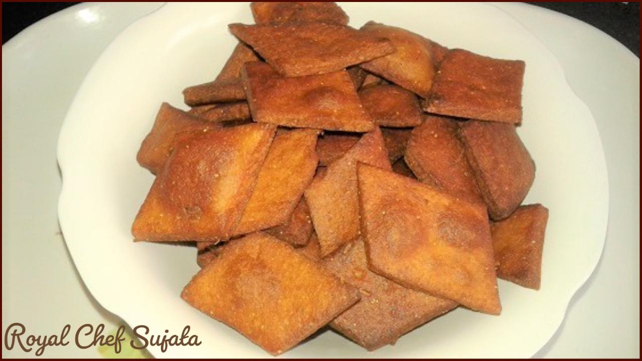 Maharashtrian Traditional Wheat And Jaggery Kapanya