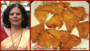 Tasty Crispy Potato Tikona Bites For Starter Or NashtaRecipe