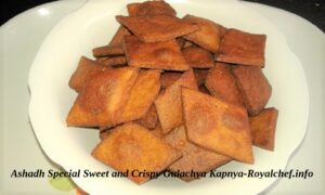 Maharashtrian Traditional Sweet and Crispy Gulachya Kapnya